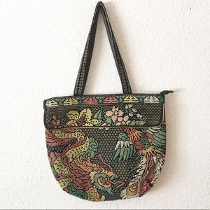 90s Chinese New Year Beaded Dragon Purse